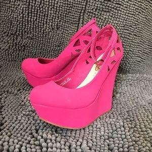 Rue21 Pink Wedges